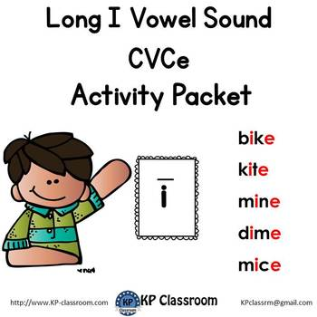 Long I CVCe Vowel Sound Activity Packet and Worksheets