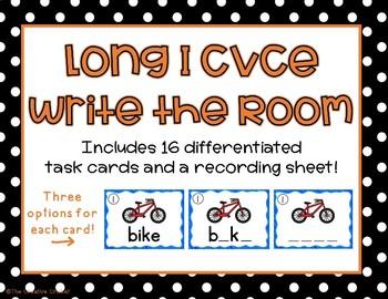 Long I CVCe Write the Room/Word Work Task Cards