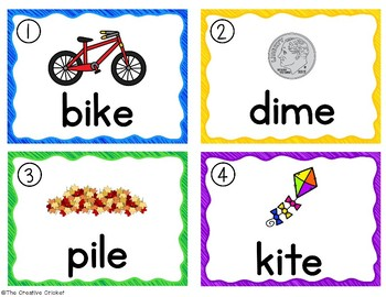 Long I CVCe Write the Room/Word Work Task Cards