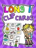 Long I Silent E Clip Cards Center Games