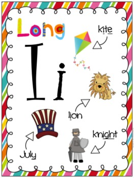Long I Differentiated Word Work Bins