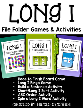 Long I File Folder Games and Activities