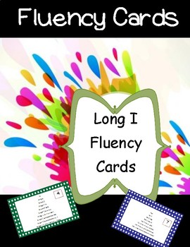 Long I Fluency Cards