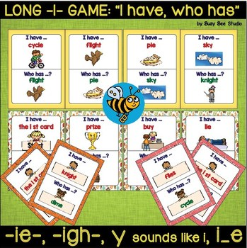 """Long I Game  """"I have, who has"""" (ie, igh, y, i_e)"""
