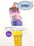 Long I Ice Cream Craft Worksheet Template