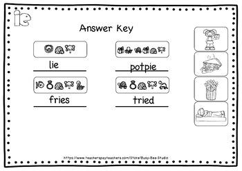Long I Worksheets: Let's Break the Code! ie, igh, y sounds like i