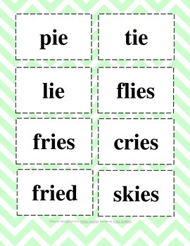 Long I Phonics Cards & Recording Sheet- Igh & Ie