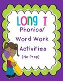Long I Phonics/Word Work Activities {i-e, ie, igh, y}