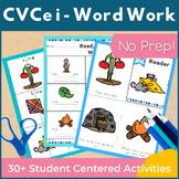 CVCe Long I i_e Word Work and Activities