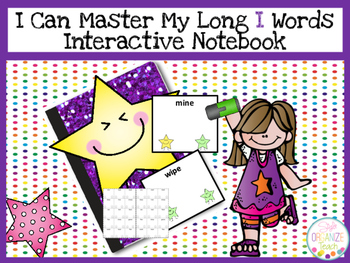 Long I Practice Fluency Data Tracker Interactive Notebook