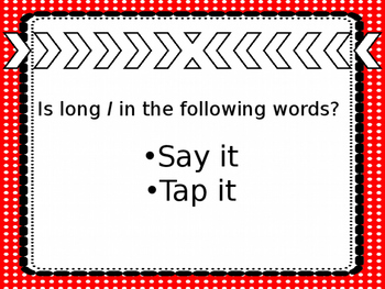 Long I- Say It and Tap It
