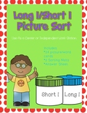 Long I/ Short I Picture Sort File Folder Activity/Literacy Center