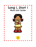 Long I, Short I Word Sort Center