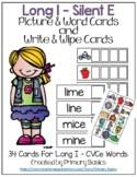 Long I Silent E Picture & Word Cards and Write & Wipe Cards