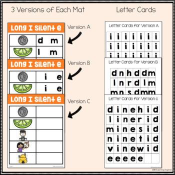 Long I Silent E Word Family Center Activities