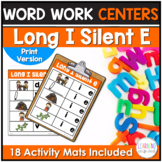 Long I Silent E Word Work Center Activities