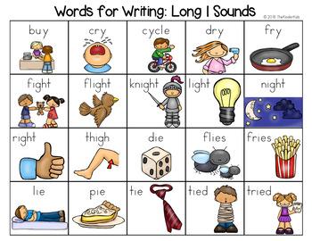 Long I Sounds Word List - Writing Center