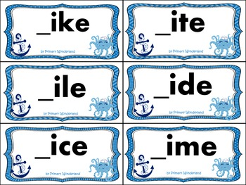 Long I Word Sort Cards