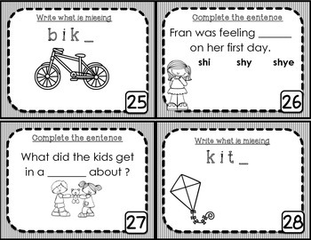 Long I Task Cards - Scoot Game