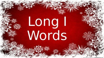 Long I(VCE) Slideshow