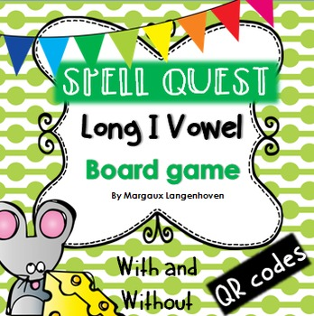 Long I Vowel Board Game (with or without QR codes)