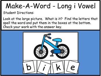 Long Vowel I - Make-A-Word Literacy Center
