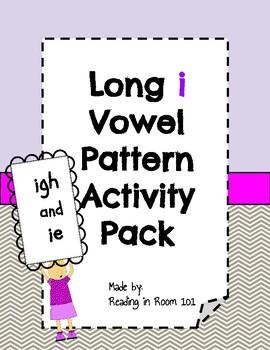 Long I Vowel Pattern Activity Pack