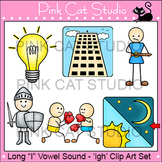 Long I Vowel Sound Spelled 'igh' Phonics Clip Art Set - Commercial Use Okay