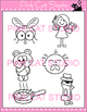 Long I Vowel Sound Spelled 'y' Phonics Clip Art Set - Commercial Use Okay