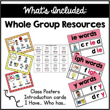 Long I Vowel Team Centers Word Work