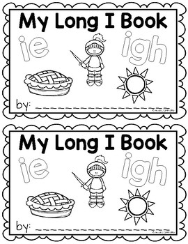 Long I Vowel Teams {ie, igh} Writing Book
