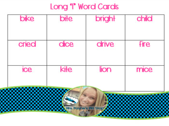 Long I Word Cards