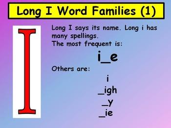 Long I Word Families 1
