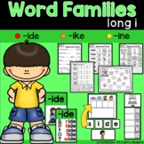 Long I Word Families: -ide, -ine, -ike words, CVCe words