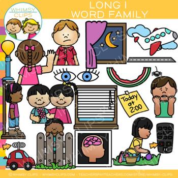 Long I Word Family Clip Art