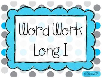 Long I Word Work