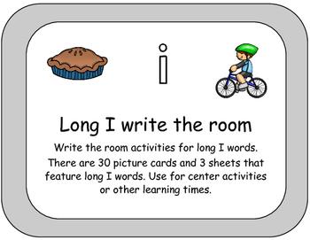 Long I Words Write the Room