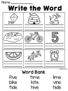 Long I Worksheets and Activities {NO PREP!}