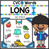 Long I Worksheets~ CVCE Words Activities NO PREP Printables