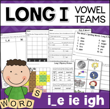 Long I Worksheets and Activities: Vowel Teams IE, IGH, I_E