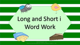 Long I and Short I Word Work