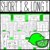 Long I and Short I Worksheets: Cut and Paste Sorts, Cloze, and More!