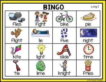 Long I (i_e, igh, ie) Activities and Games