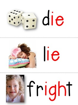 Long I ie & igh Word Cards