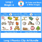 Long I (magic e) Phonics Clip Art Bundle