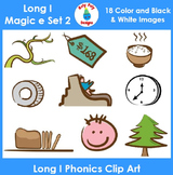 Long I (magic e) Phonics Clip Art Set 2