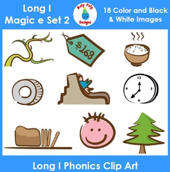 Long I (magic e) Phonics Clip Art Set 2