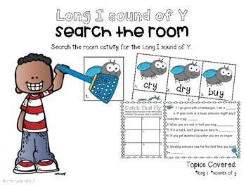 Long I sound of Y Word Search