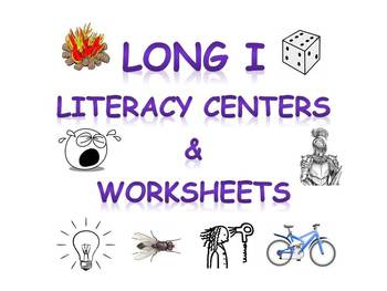 Long I vowel sound literacy center activities & worksheets