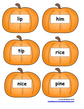 Long I/Short I Pumpkin Sort